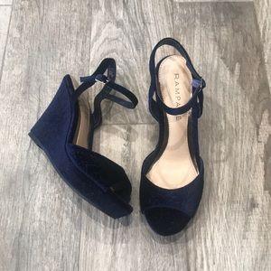Rampage Velvet Wedge Sandals